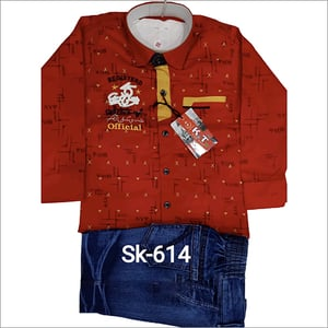 SK-614 Kids Wear Jeans And Shirt