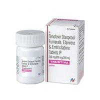 Trustiva Tablet (Emtricitabine 200mg + Tenofovir disoproxil fumarate 300mg + Efavirenz 600mg)