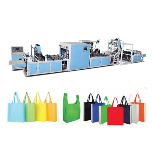Non Woven Box Bag Making Machine with Online Loop Handle