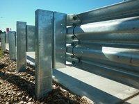 Metal Crash Barrier - Galvanized