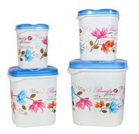 PP Square Milky Printed Storewell Containers