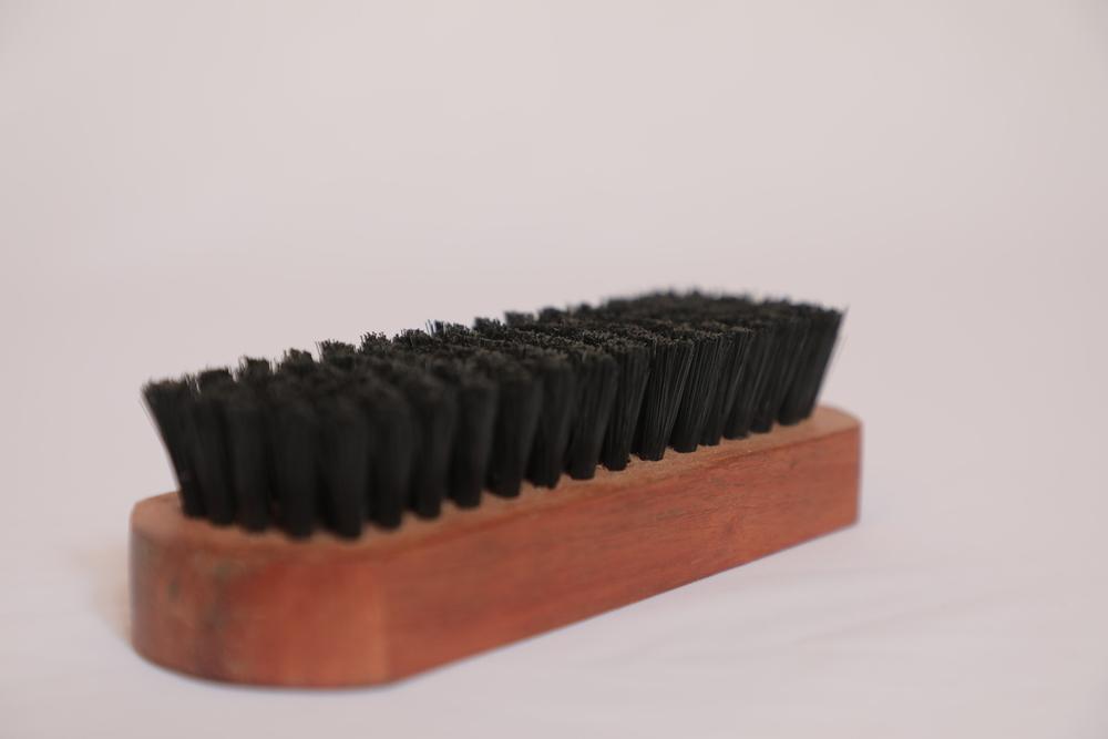 wooden shoe polish brush