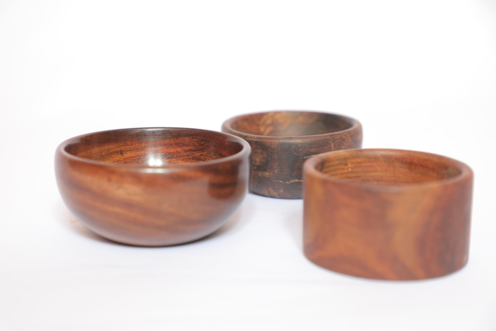 Wooden bowl for face mask