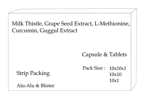 Milk Thistle, Grape Seed Extract, L-Methionine, Curcumin, Guggul Extract
