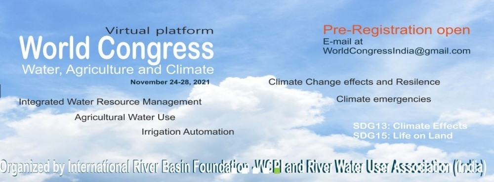 World Congress 21 on Water, Climate and Agriculture