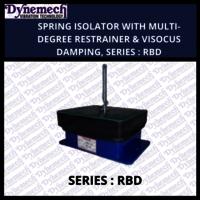 SPRING ISOLATOR WITH MULTI-DEGREE RESTRAINER & VISOCUS DAMPING, SERIES:RBD