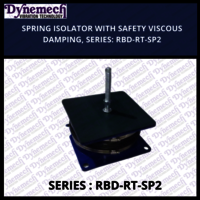 SPRING ISOLATOR WITH SAFETY VISCOUS DAMPING, SERIES-RBD-RT-SP2