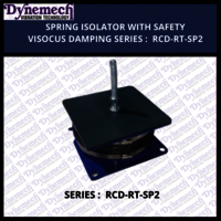 SPRING ISOLATOR WITH SAFETY VISOCUS DAMPING SERIES:RCD-RT-SP2