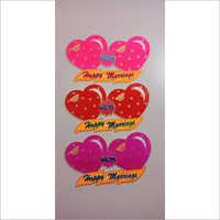 Thermocol Wedding Name Board