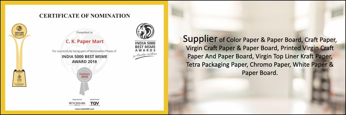 Color Kraft Paper Supplier,Virgin Kraft Paper Distributor,India