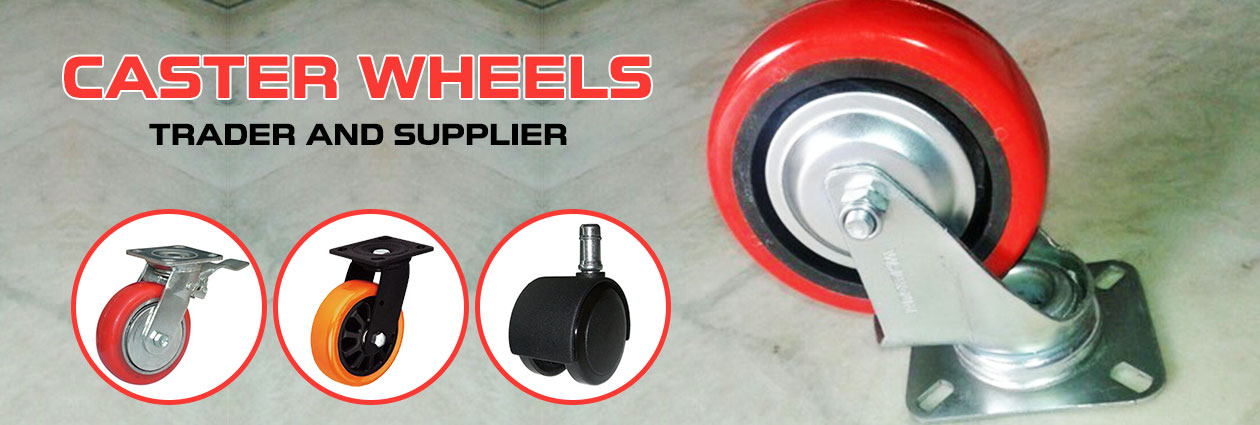 Trolley Caster Wheels Supplier,Rubber Caster Wheels Trader,Bhosari ...