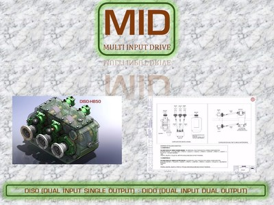MID : MULTIPLE INPUT GEARBOX DRIVE