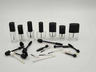 Nail Polish Bottle and Brushes