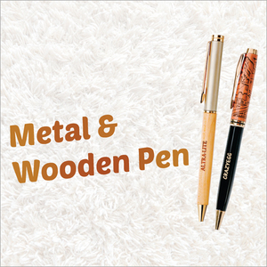 Metal And Wooden Pen