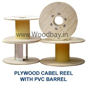 Plywood Cable Reel with Paper Tube Barrel