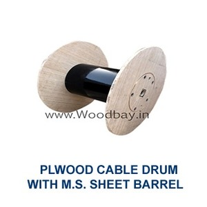 Plywood Cable Drum With M.S. Sheet Barrel