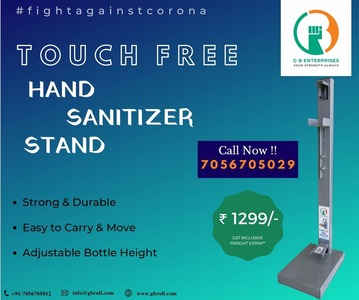 Touch Free Hand Sanitizer Stand